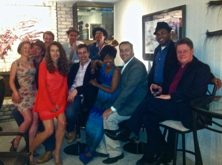 Cast and (partial) crew photo.  The picture might be blurry, but the love is clear.