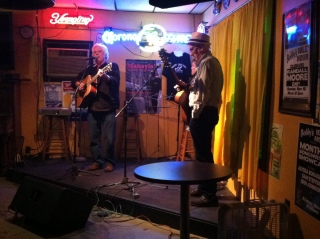 "An open mic at ""Bobby's Idle Hour."""